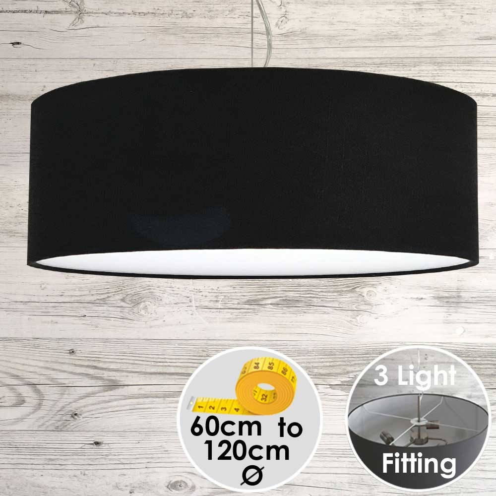 CARA LARGE BLACK DRUM LAMPSHADE