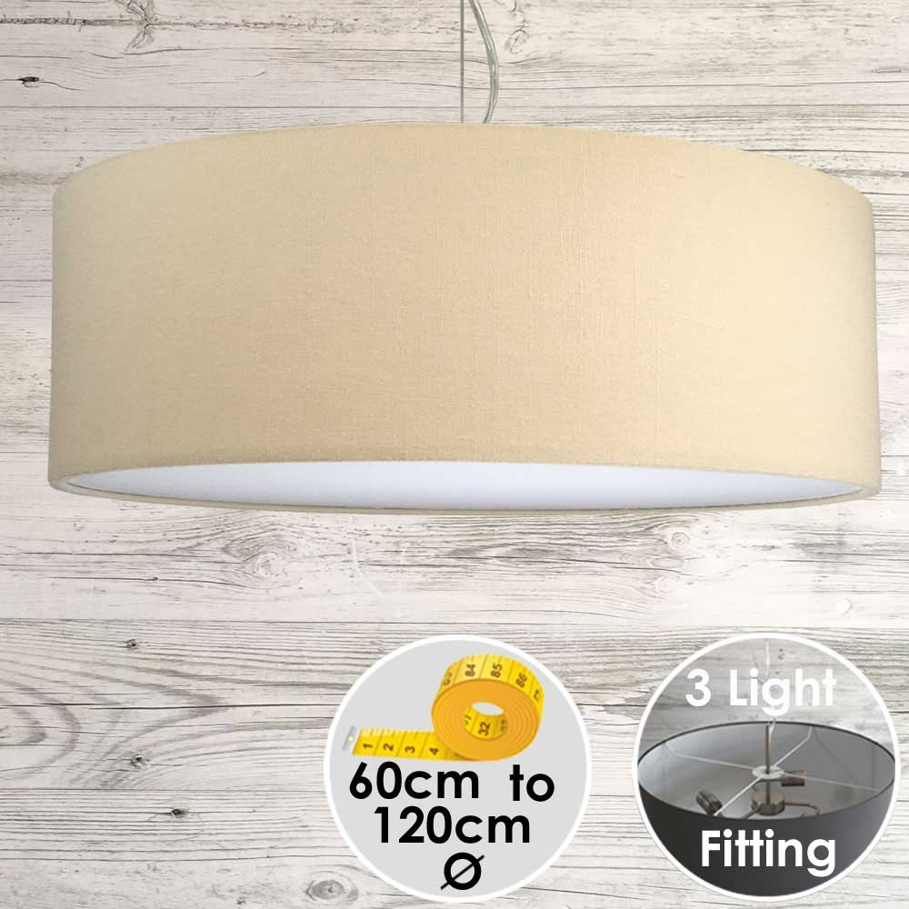 Cara Large Cream Drum Lampshade