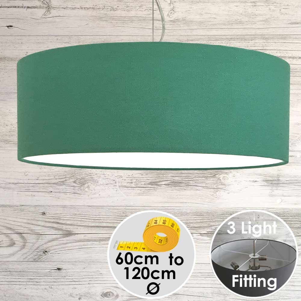 Cara Large Green Drum Lamp Shade