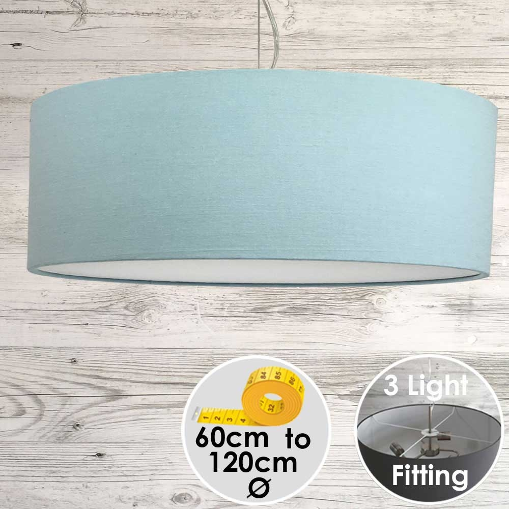 Cara Large Light Blue Drum Lampshade