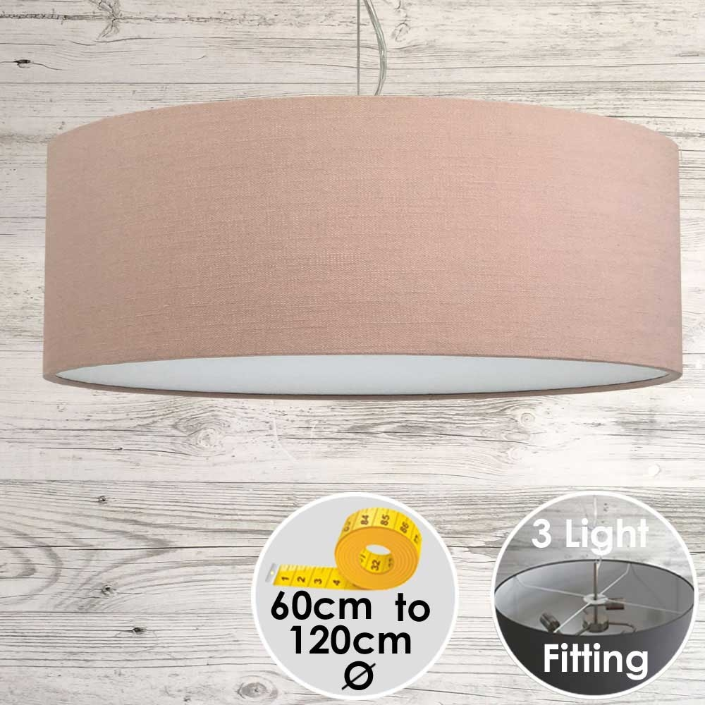 Cara Large Pink Drum Lampshade