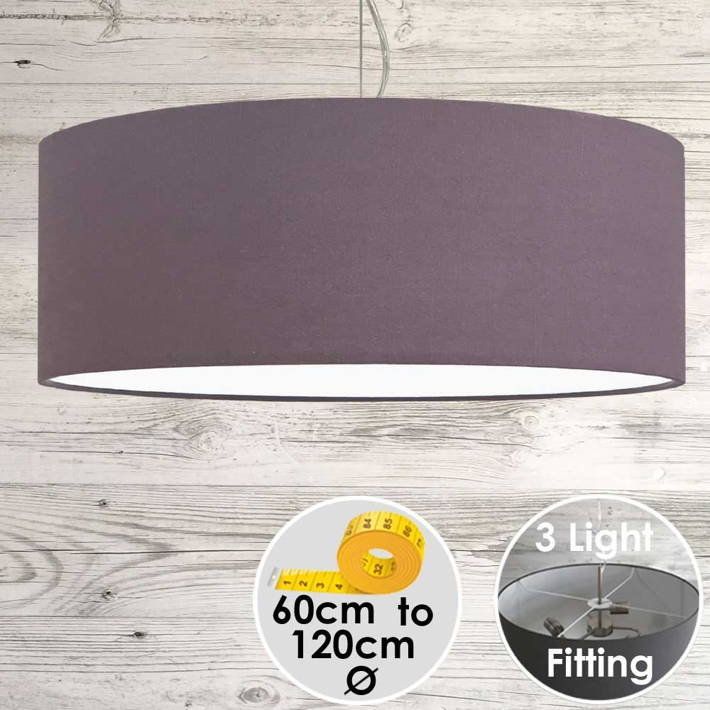 Cara Large Purple Drum Lampshade