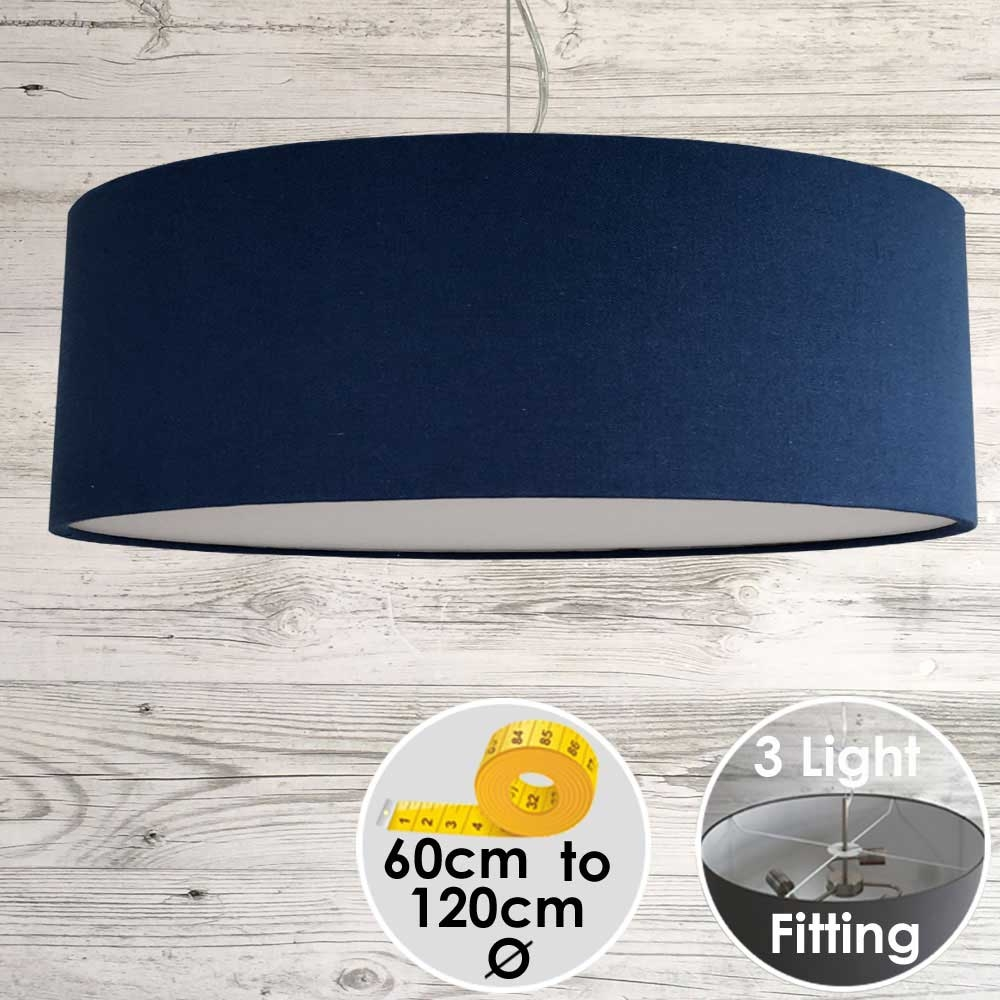 Cara Large Royal Blue Drum Lampshade
