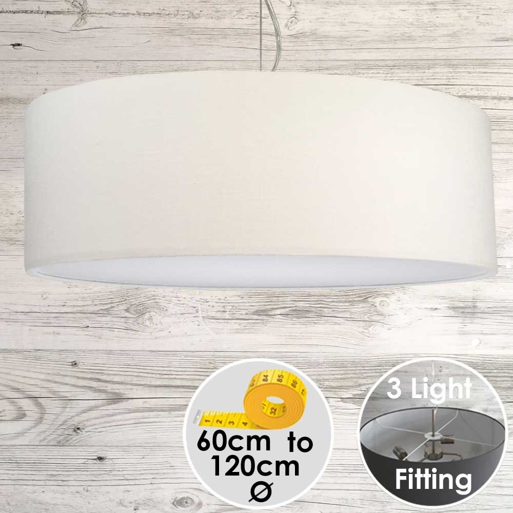 Cara Large White Drum Lampshade