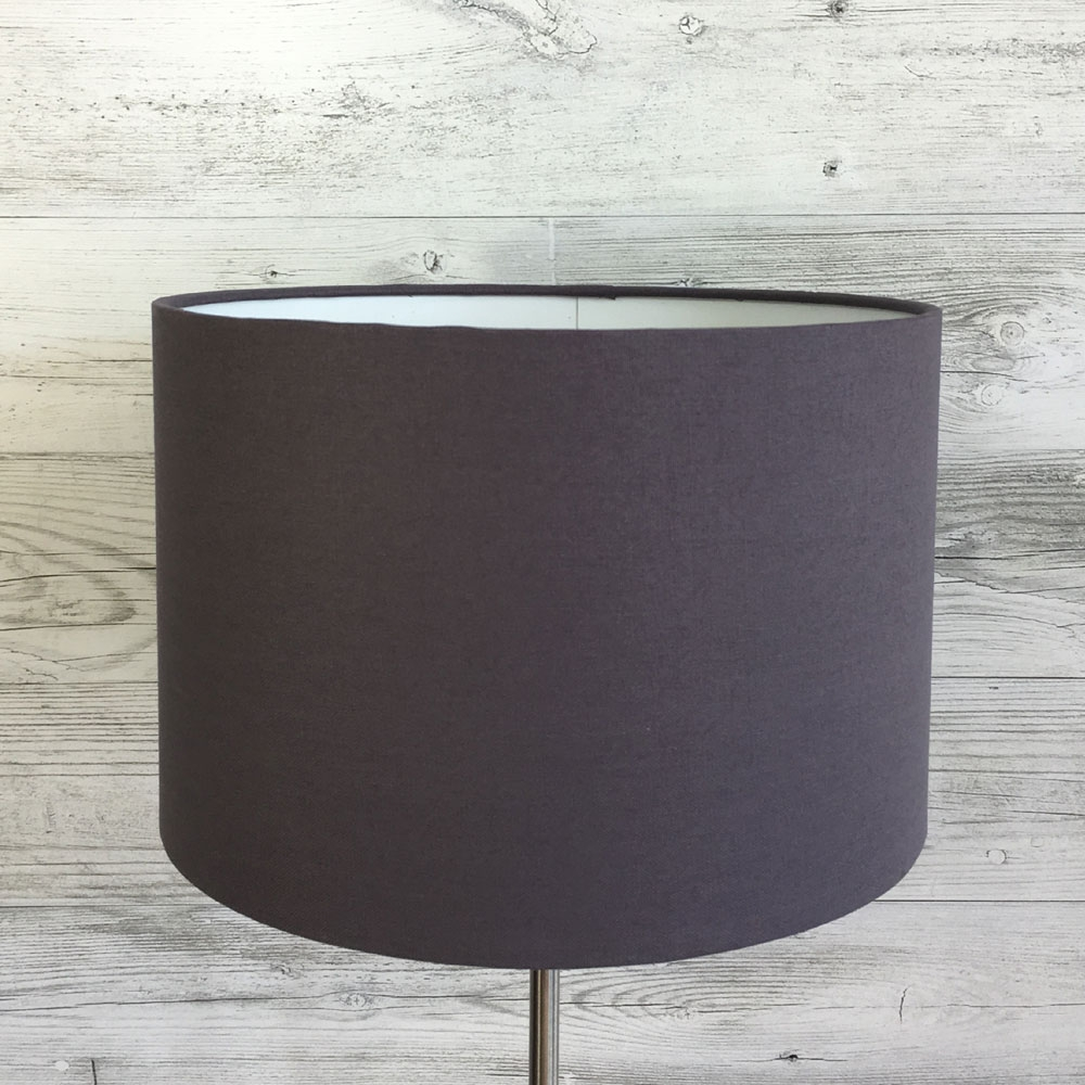 Charcoal Cotton Canvas Lampshade