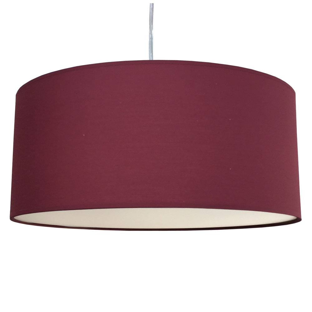 home modern lamp shades xl drum shade and suspension claret. Black Bedroom Furniture Sets. Home Design Ideas