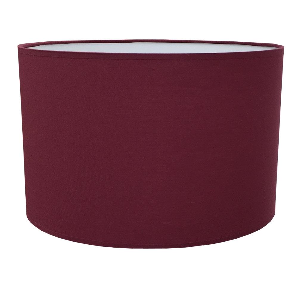 Drum Table Lampshade Claret