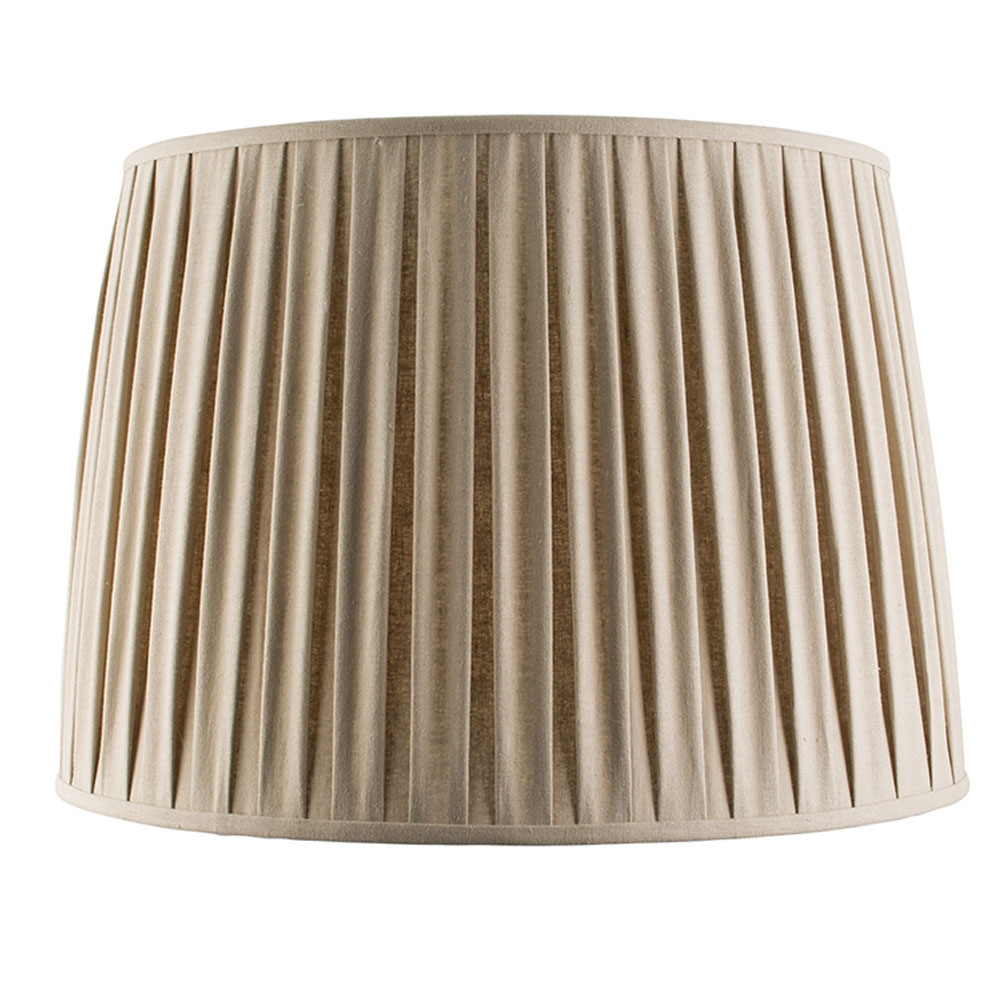 home modern lamp shades pleated tapered drum taupe. Black Bedroom Furniture Sets. Home Design Ideas