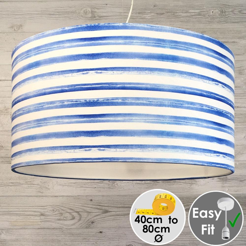 Coastal Stripe Printed Lampshade