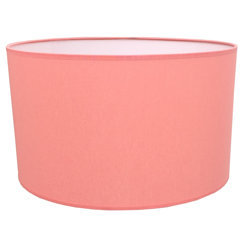 home modern lamp shades drum table lampshade in coral cotton. Black Bedroom Furniture Sets. Home Design Ideas