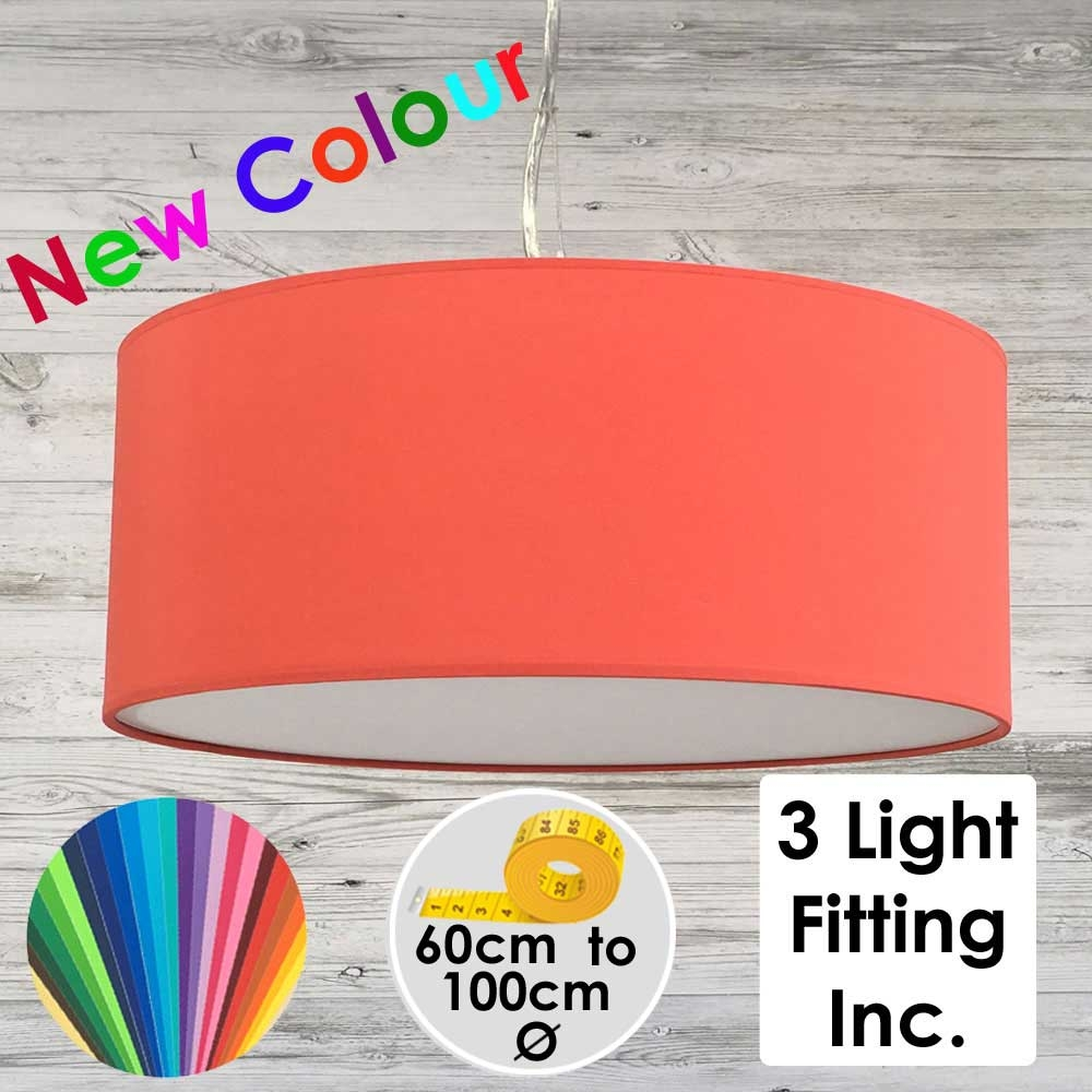 Coral Red Drum Ceiling Light