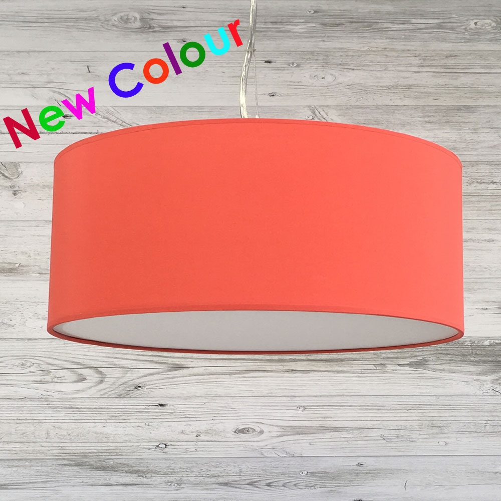 Drum Ceiling Shade Coral Red