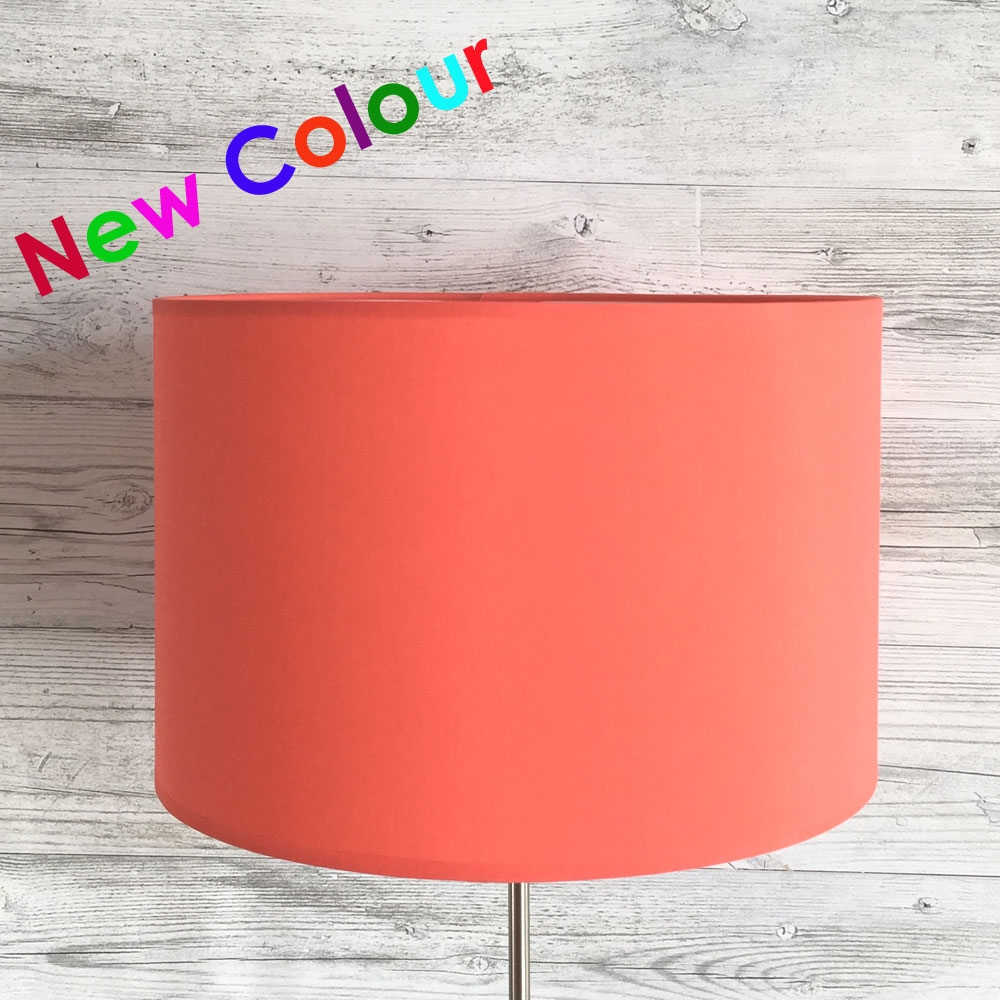 Drum Shade Coral Red