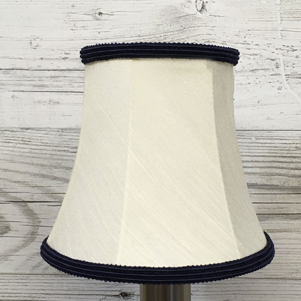 Bowed Candle Shade Cream & Navy