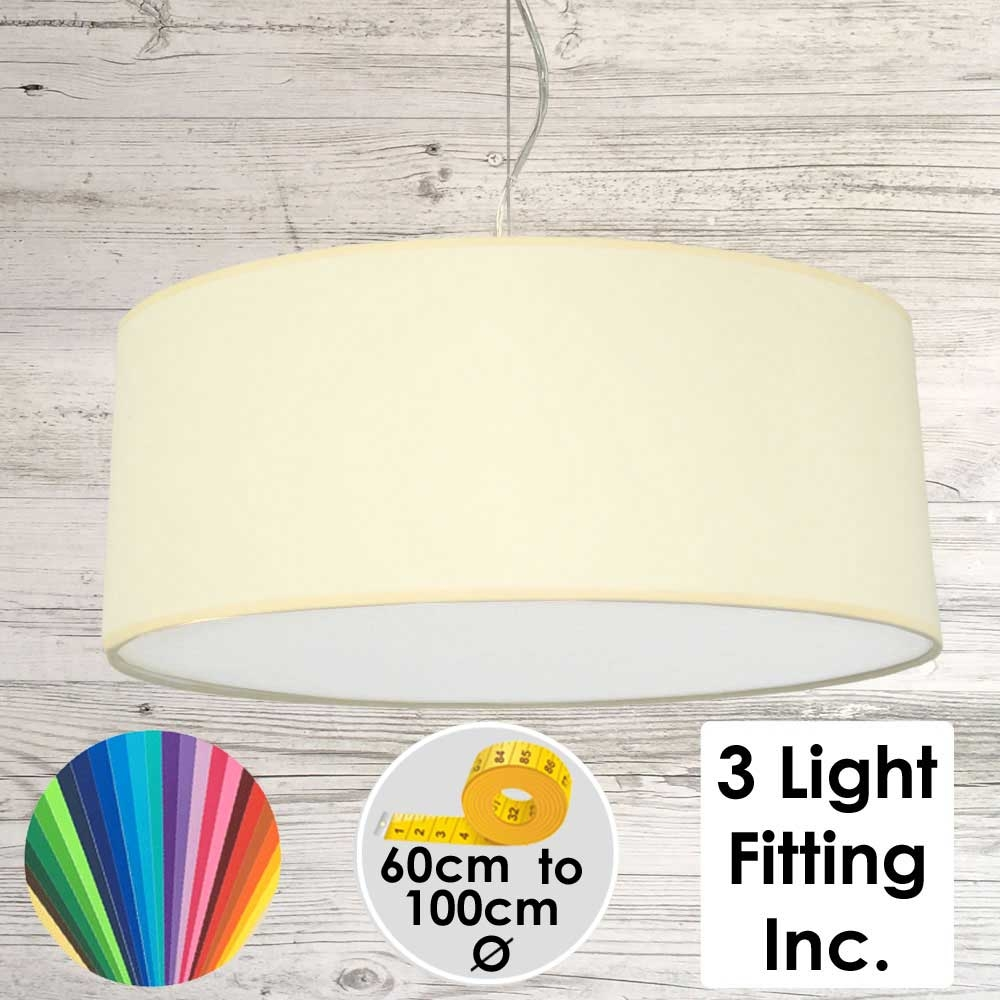 Cream Drum Ceiling Light