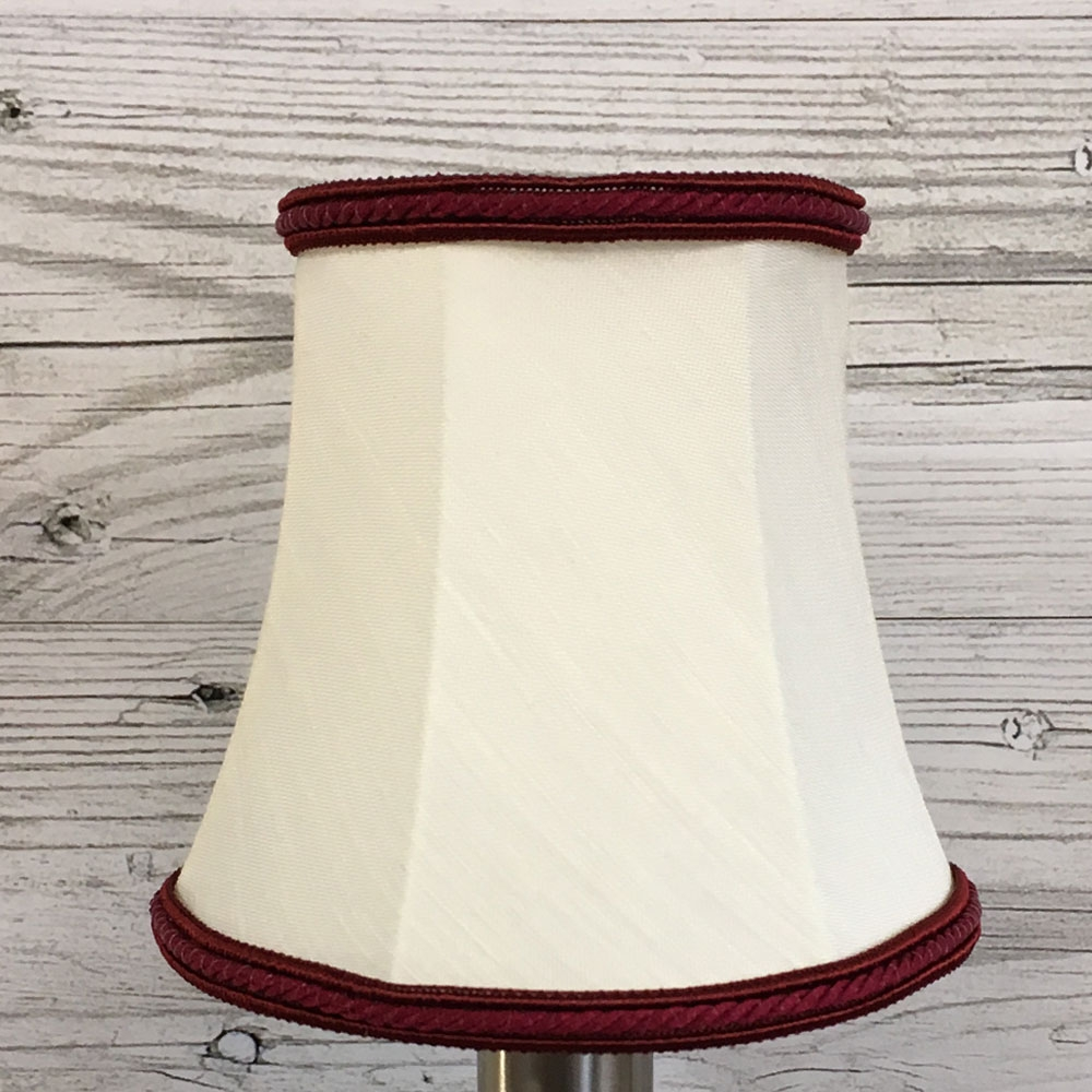 Bowed Candle Shade Cream & Burgundy