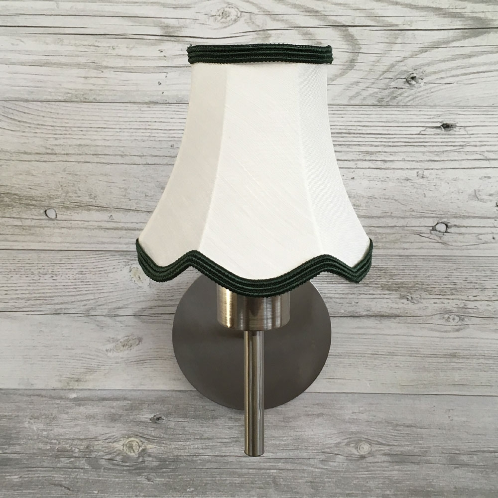 Scalloped Candle Shade Cream & Green