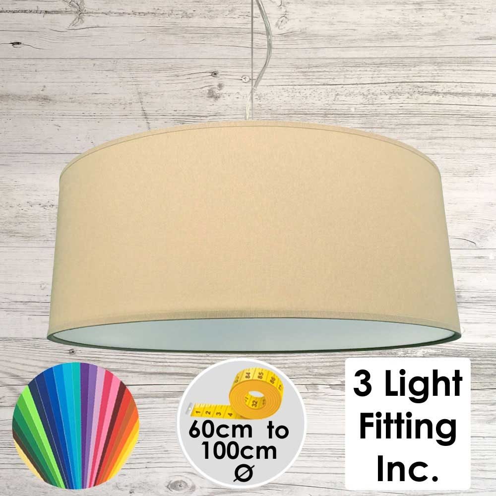 Crema Drum Ceiling Light