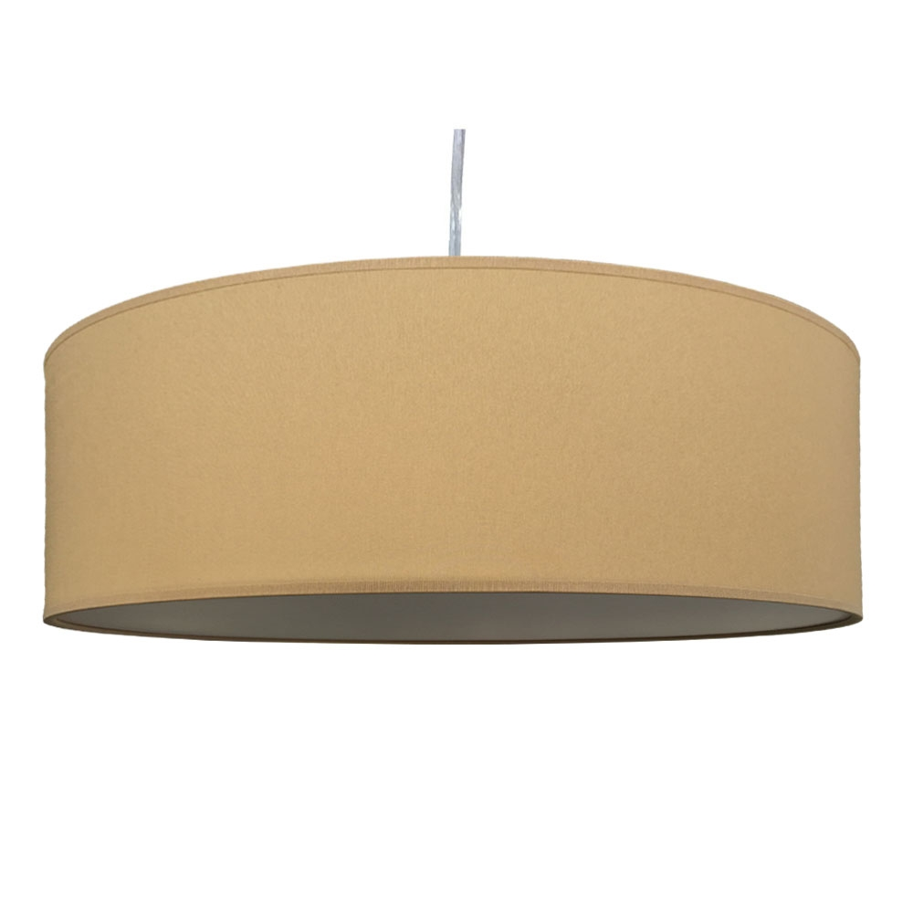Thin drum pendant crema