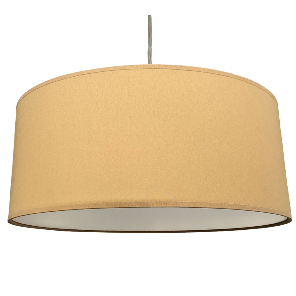 home modern lamp shades xl drum shade and suspension in crema cotton. Black Bedroom Furniture Sets. Home Design Ideas