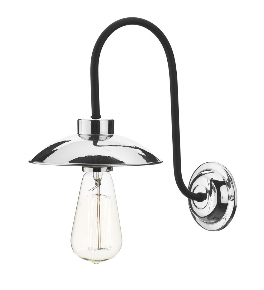 Dallas Single Wall Light Polished Chrome