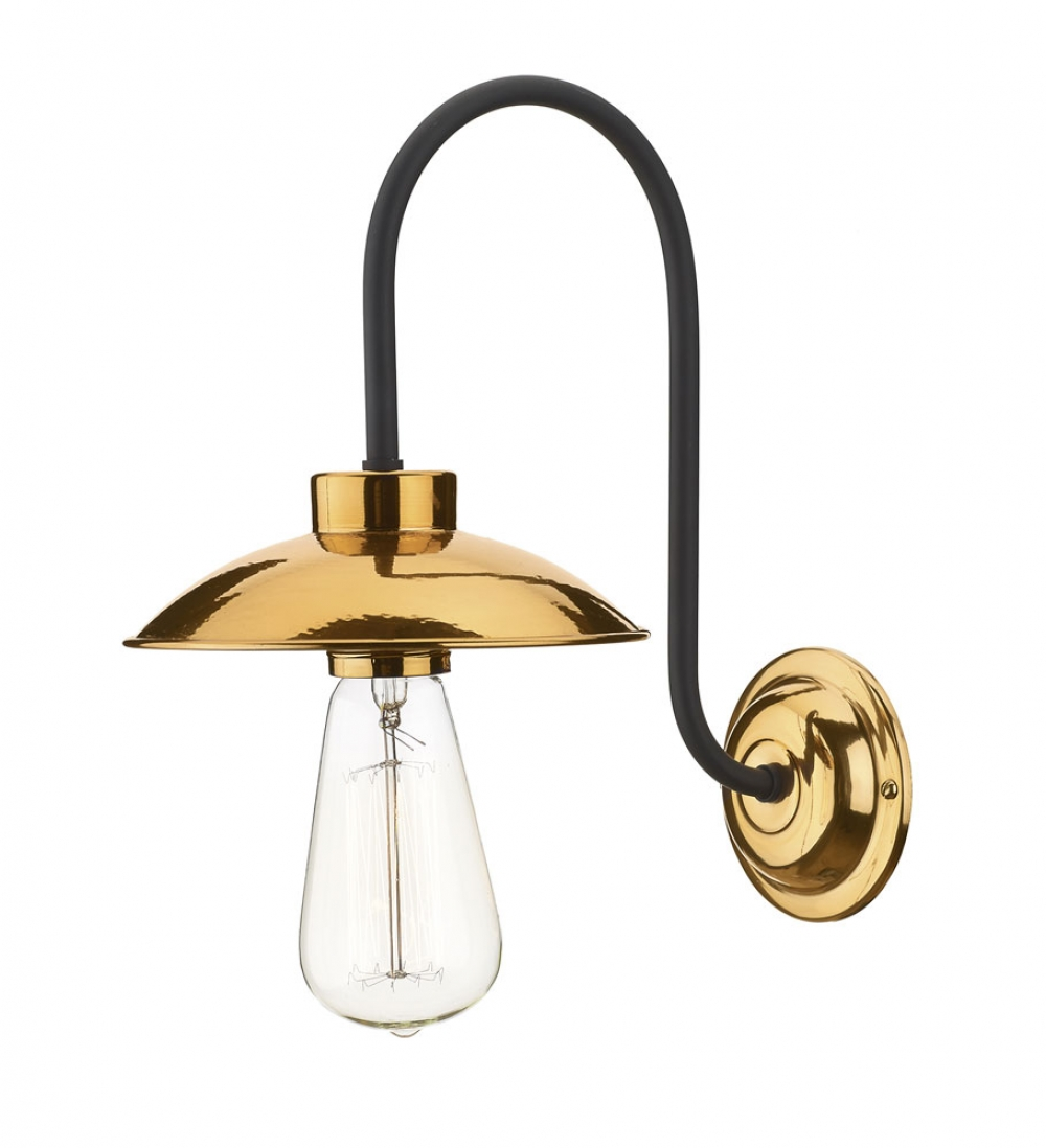 Copper Effect Wall Lights : Dallas Single Wall Light Copper - Imperial Lighting