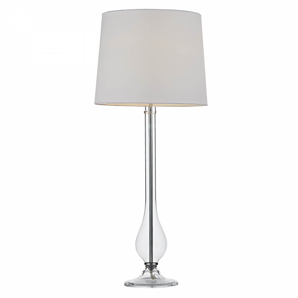 Dillon Clear Glass Table Lamp