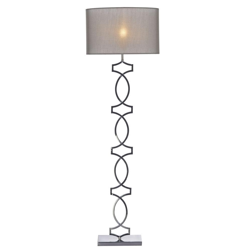 Donovan Floor Lamp Black Chrome