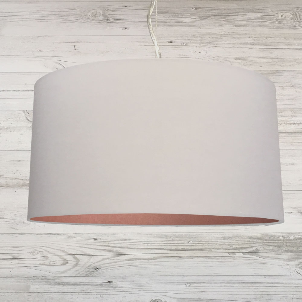 Drum Ceiling Shade Grey & Copper