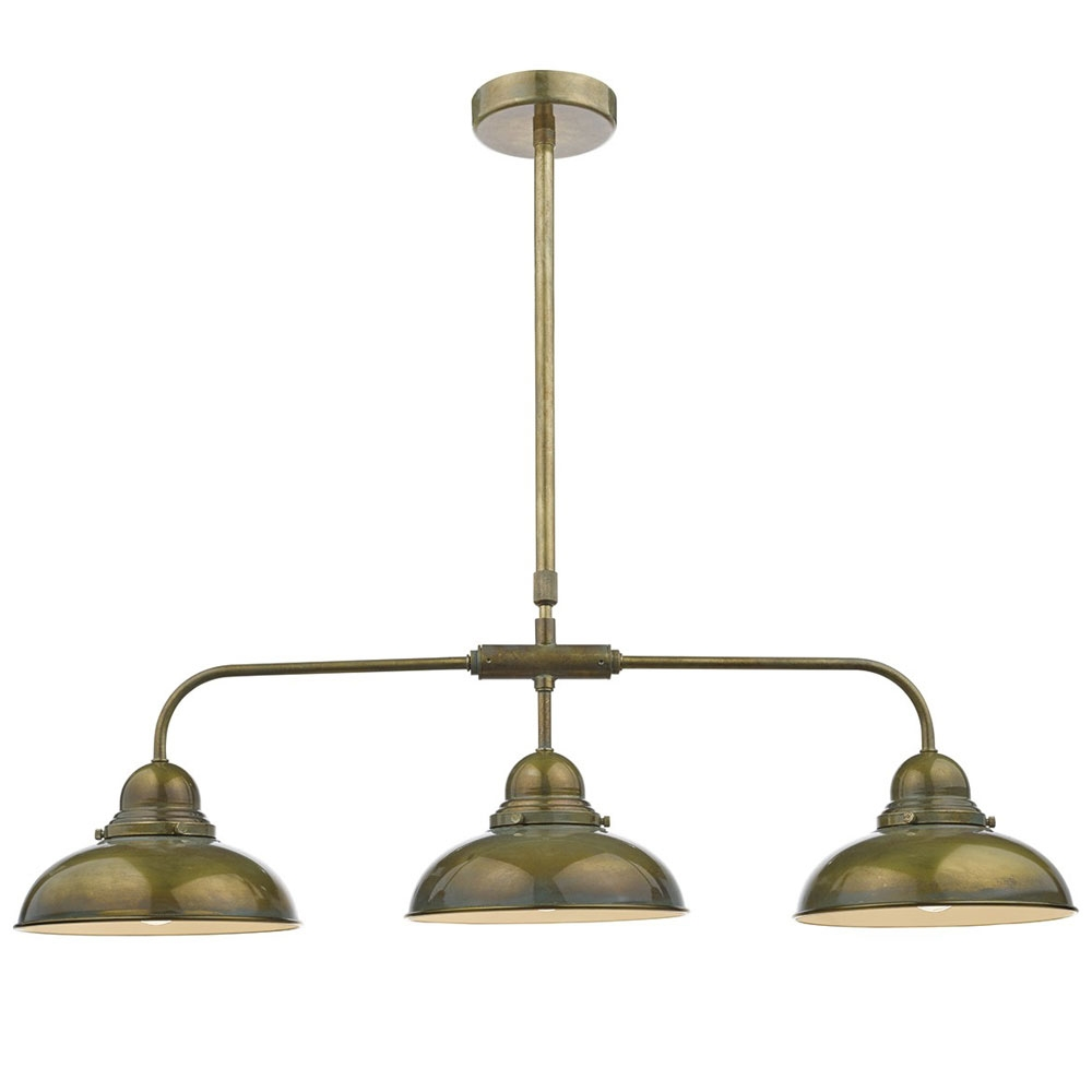 Dynamo 3 Light Brass Pendant