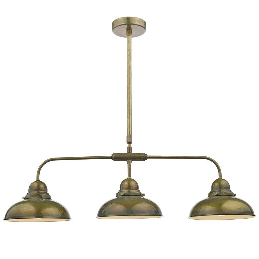 Dynamo 3 Light Brass Pendant
