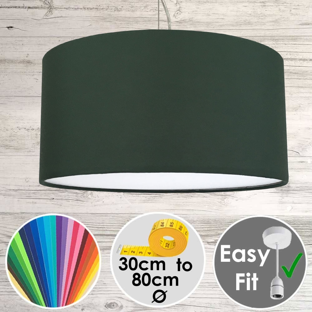Dark Green drum Shade