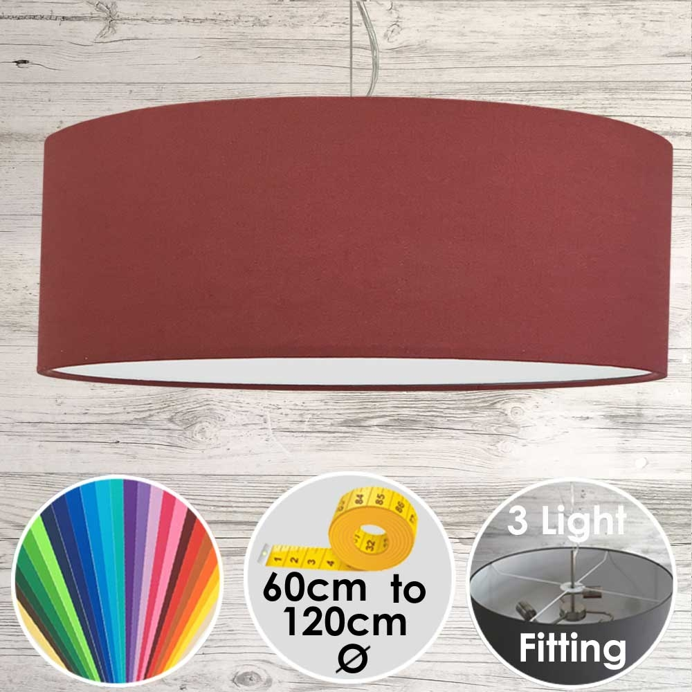 Cara XL Drum Ceiling Light Berry