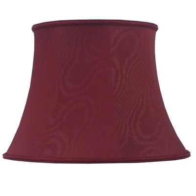 Bowed Drum Lampshade Burgundy Moire
