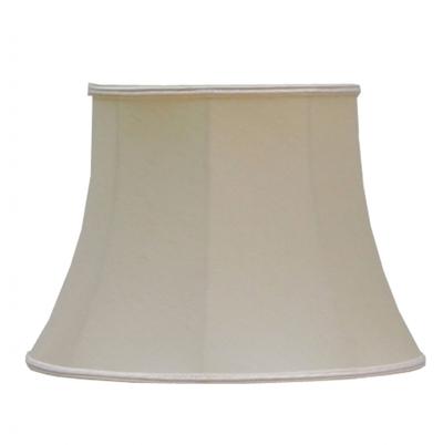 Bowed Drum Lampshade Cream Dupion