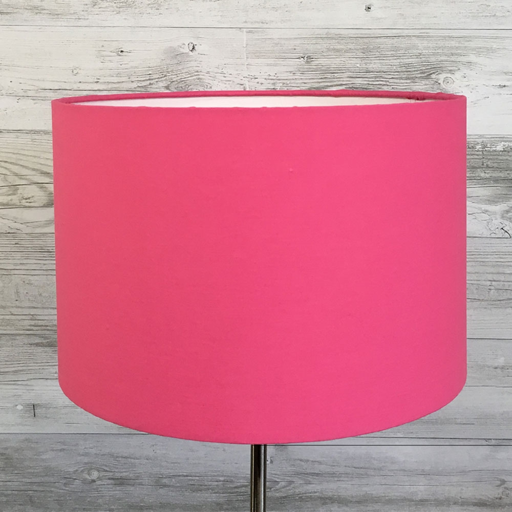 Hot Pink Drum Lampshade