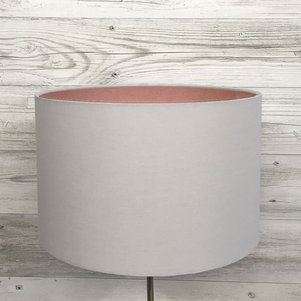 Drum Table Lampshade Grey & Copper