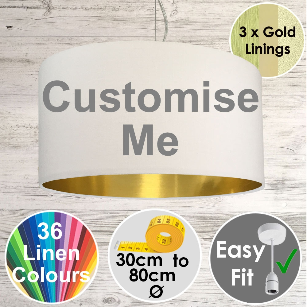 Drum Lampshade Gold Lining