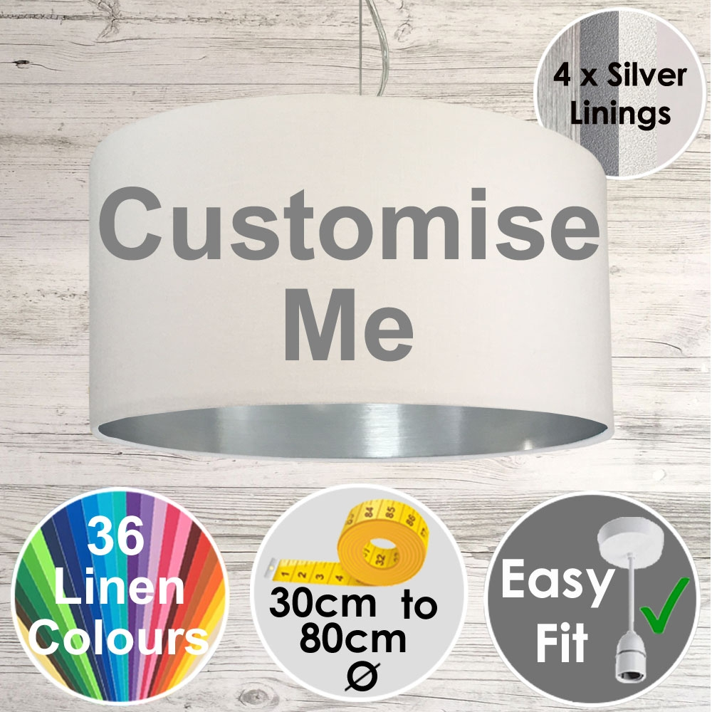 Drum Lampshade Silver Lining