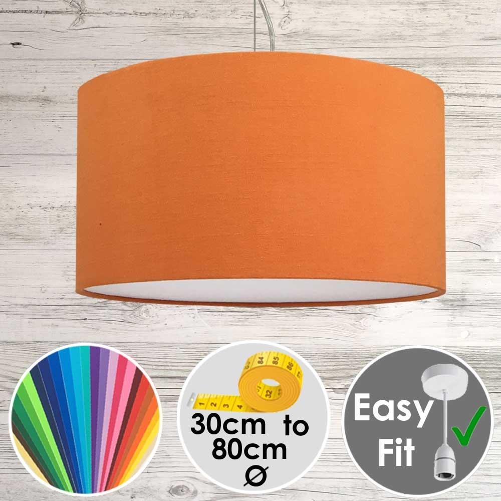 Aura Drum Pendant Orange