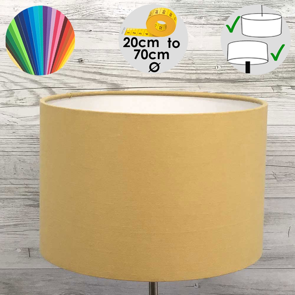 Aura Drum Table Lamp Shade Gold