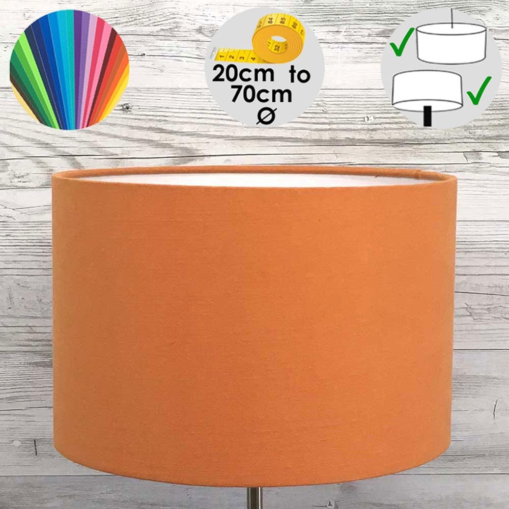 Aura Drum Table Lamp Shade Orange