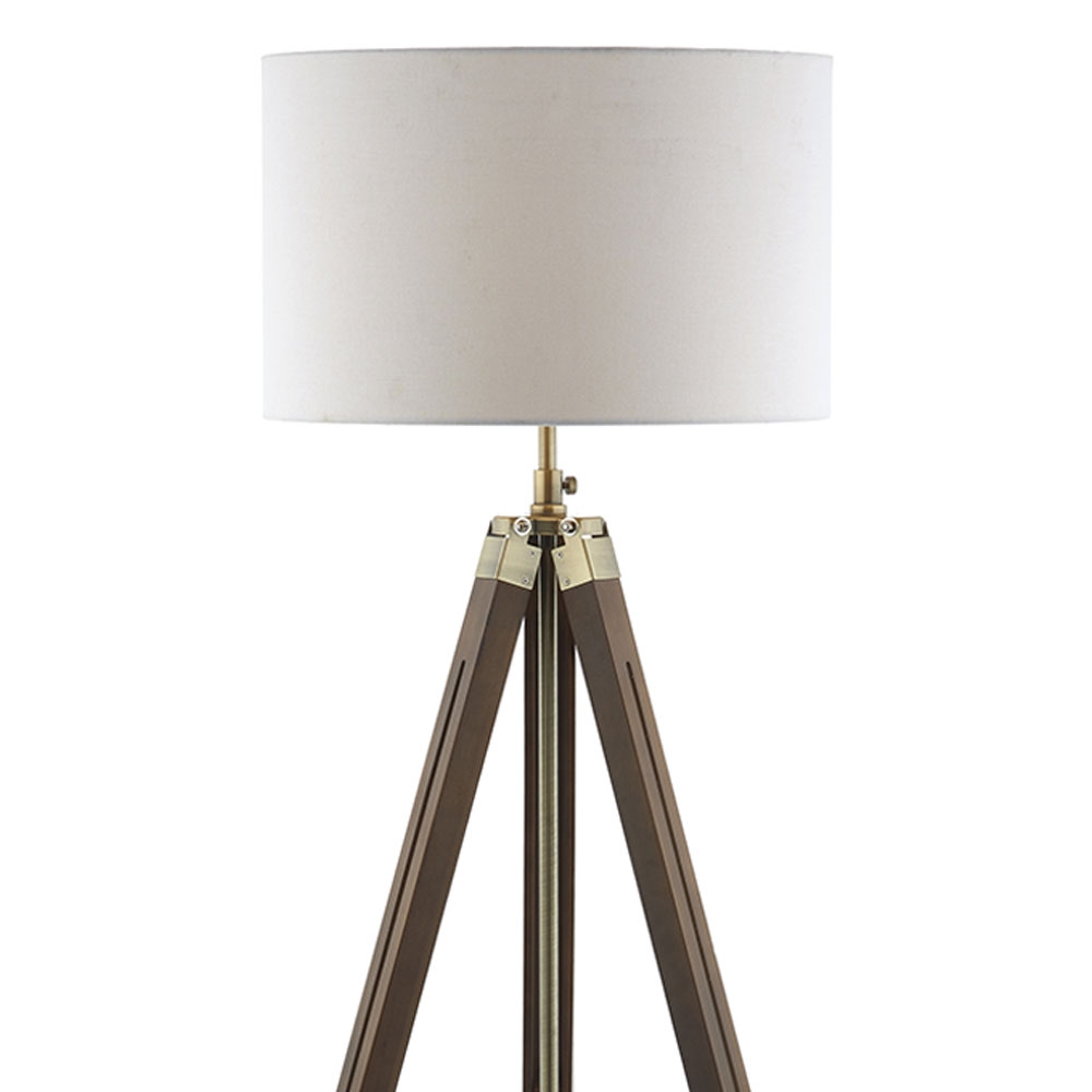 Tripod Wooden Floor Lamp And Shade Imperial Lighting