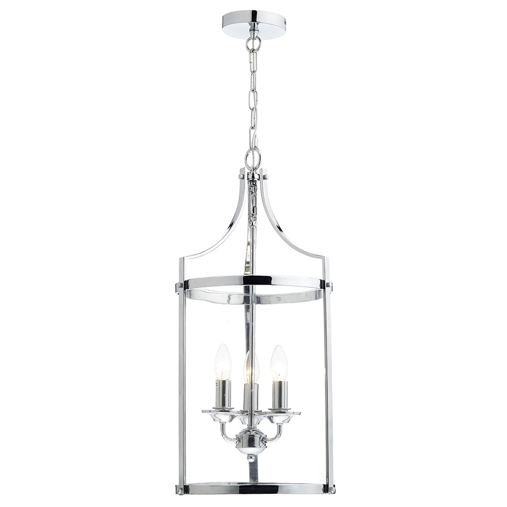 Ely Polished Chrome 3 Light Pendant