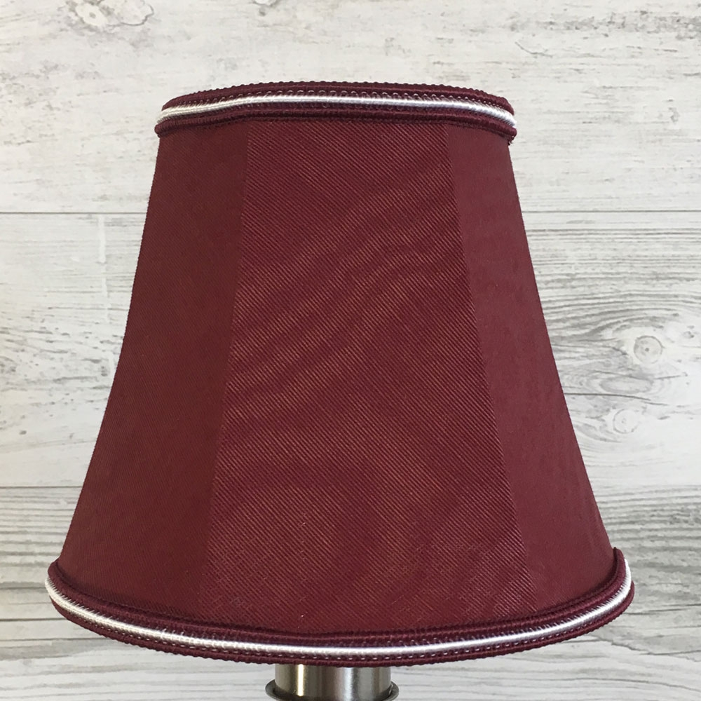Empire Candle Burgundy & White