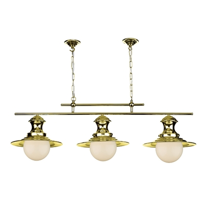 Station Bar Pendant Brass