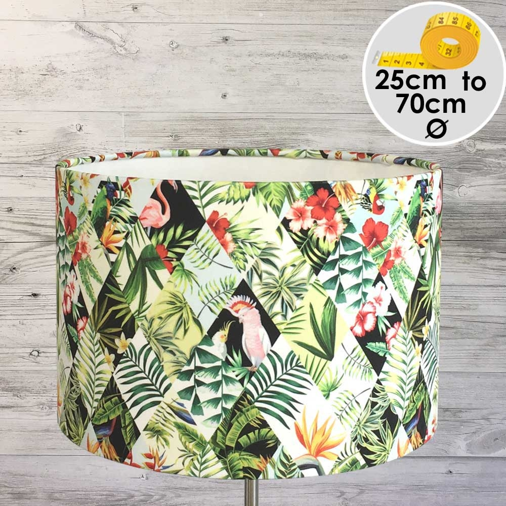 EXOTIC PATCHWORK TROPICAL LAMPSHADE