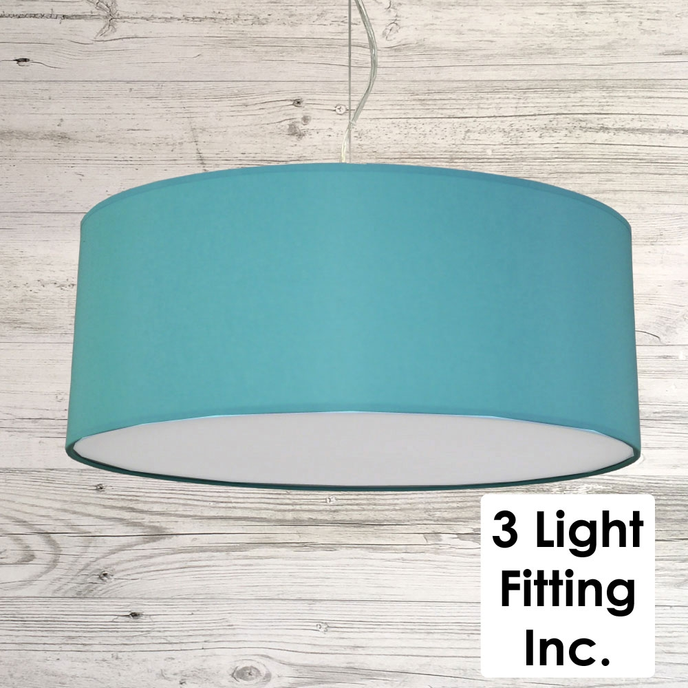 Turquoise Drum Ceiling Light