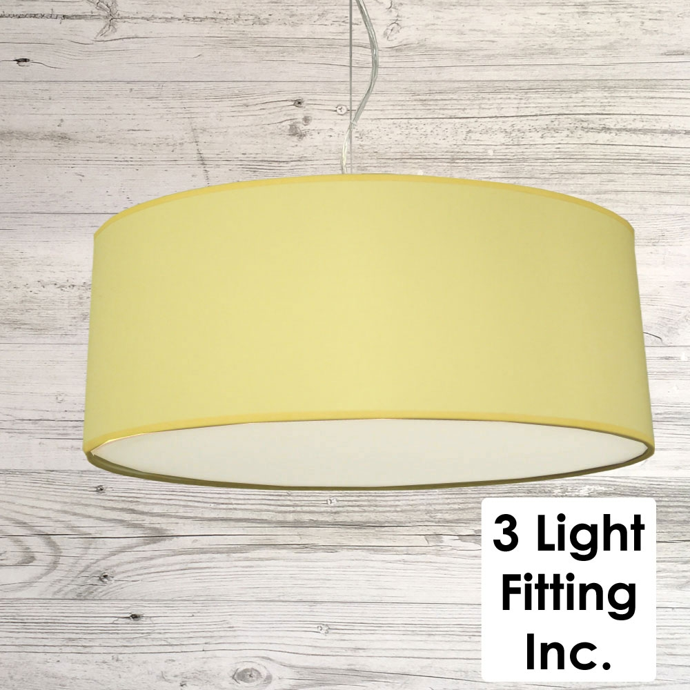 Yellow Drum Ceiling Light