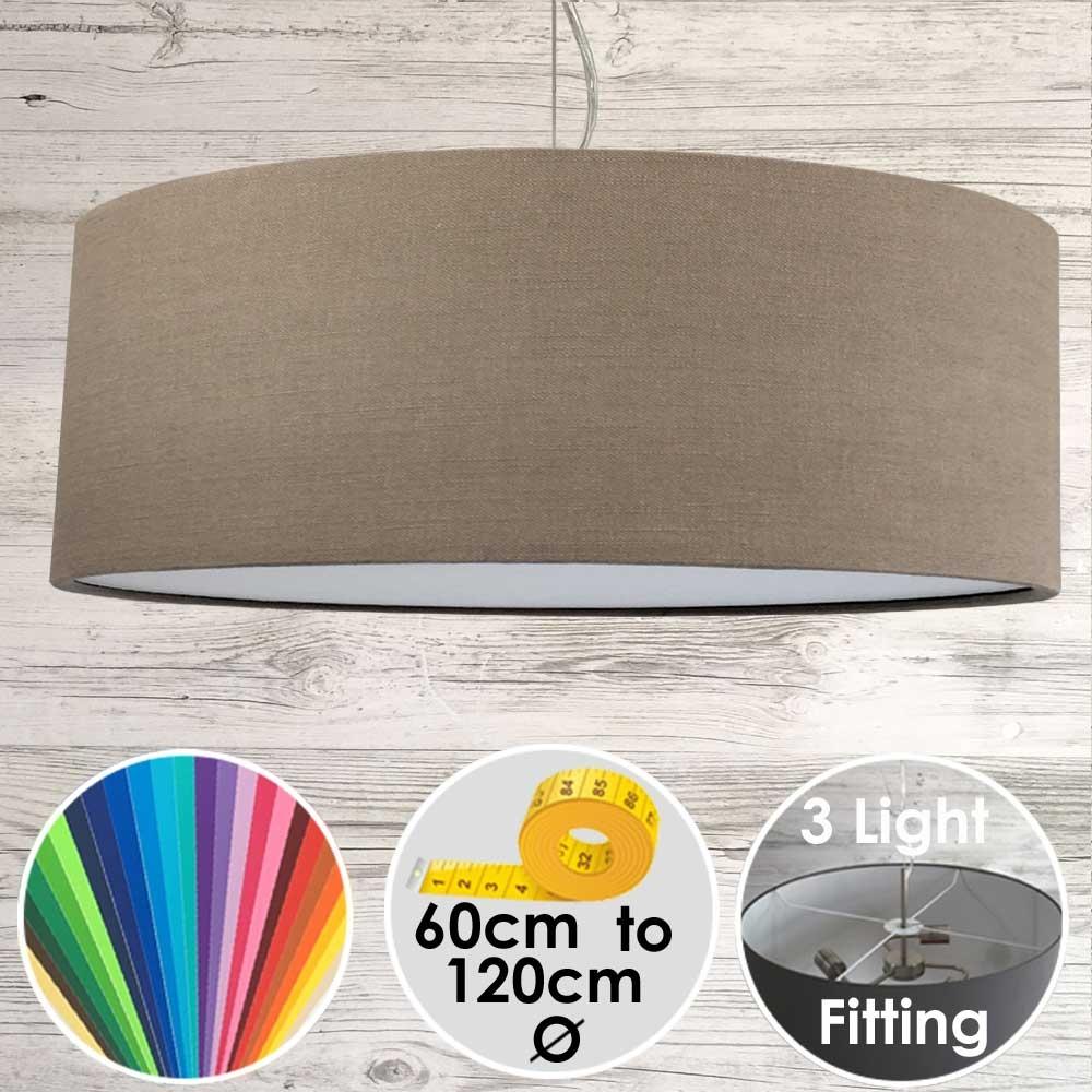 Cara XL Drum Ceiling Light Elm